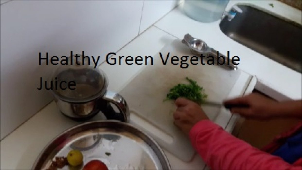 Healthy Green Vegetable Juice - student project