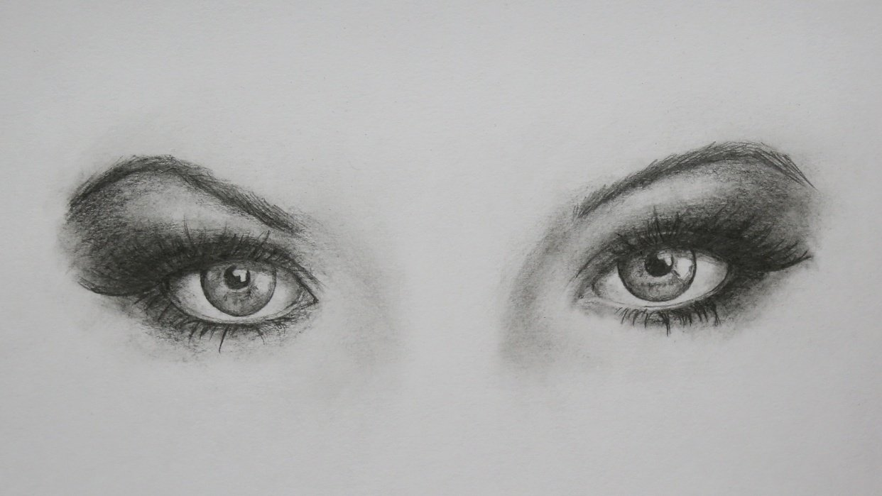 Eyes with Pencils - student project
