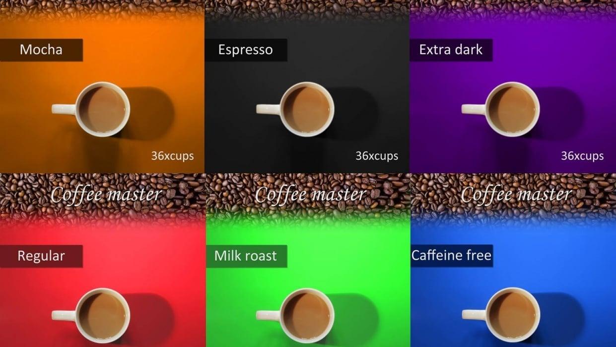 six different coffee mug - student project