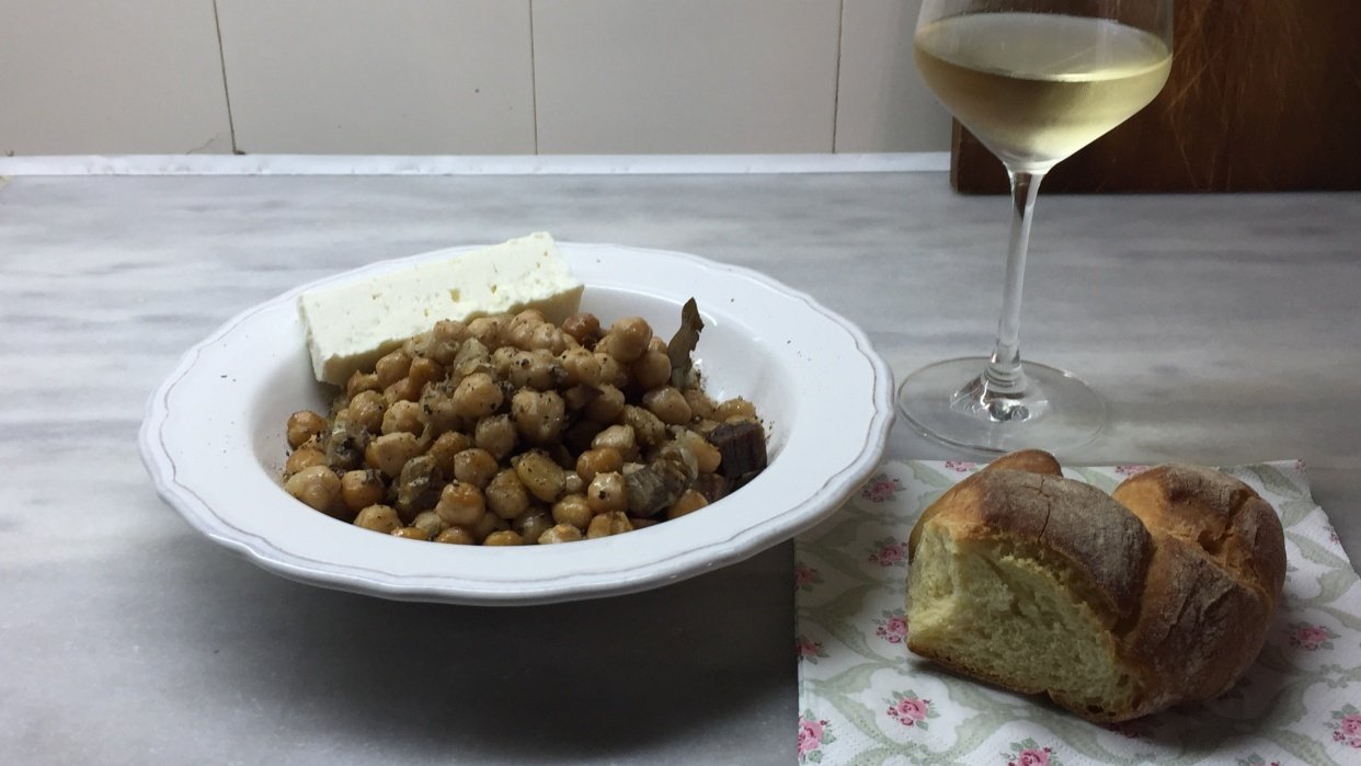 Chickpeas with beef meat - student project