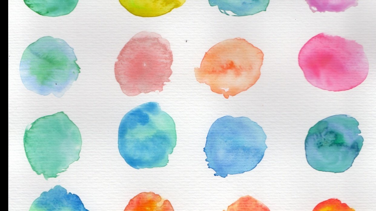 Exploring colours (intuitive mixing + colour play) - student project