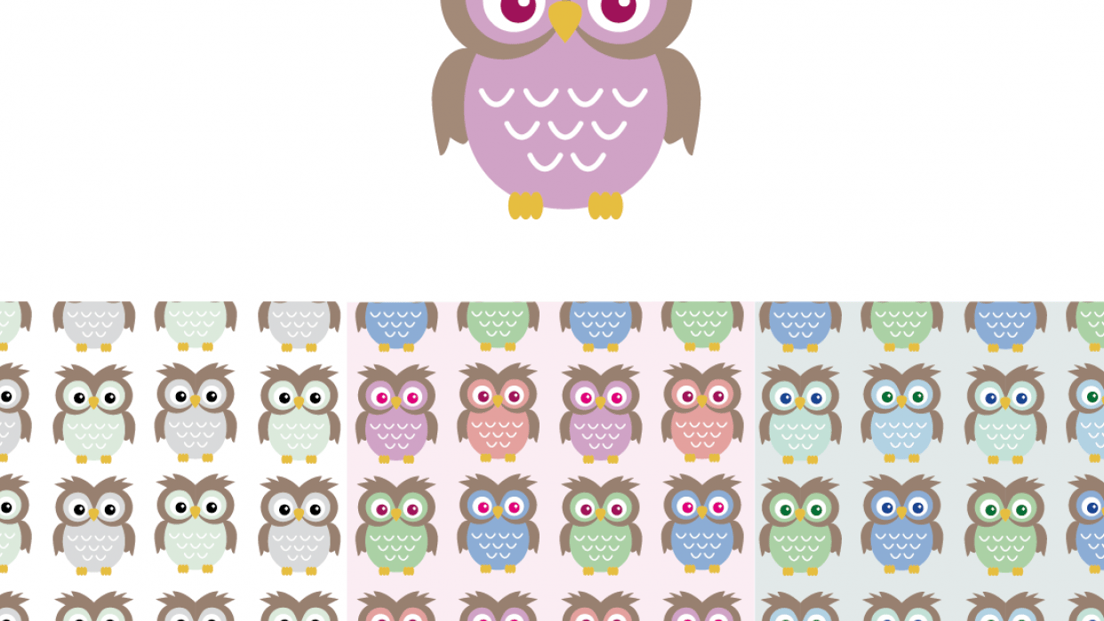Owls for kids print - student project