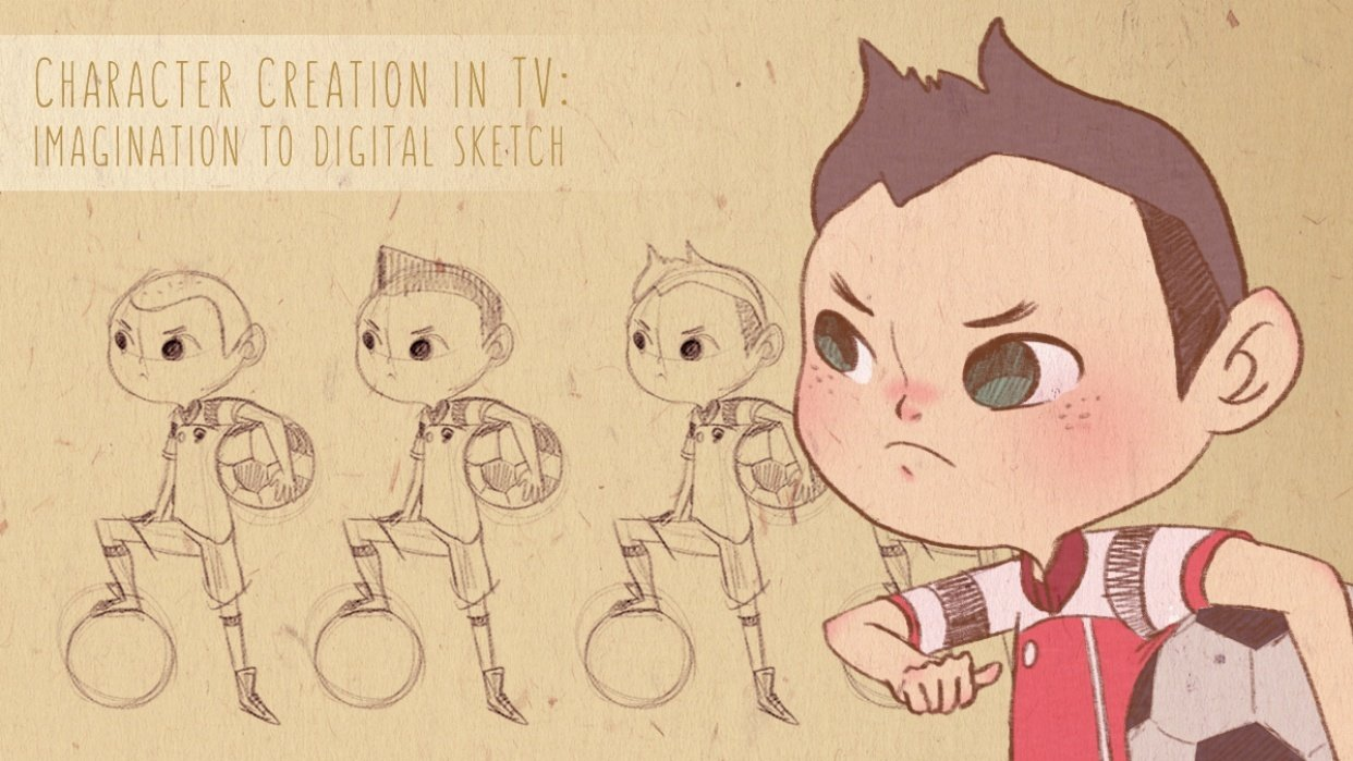 Character Creation for TV: Imagination to Digital Sketch - student project