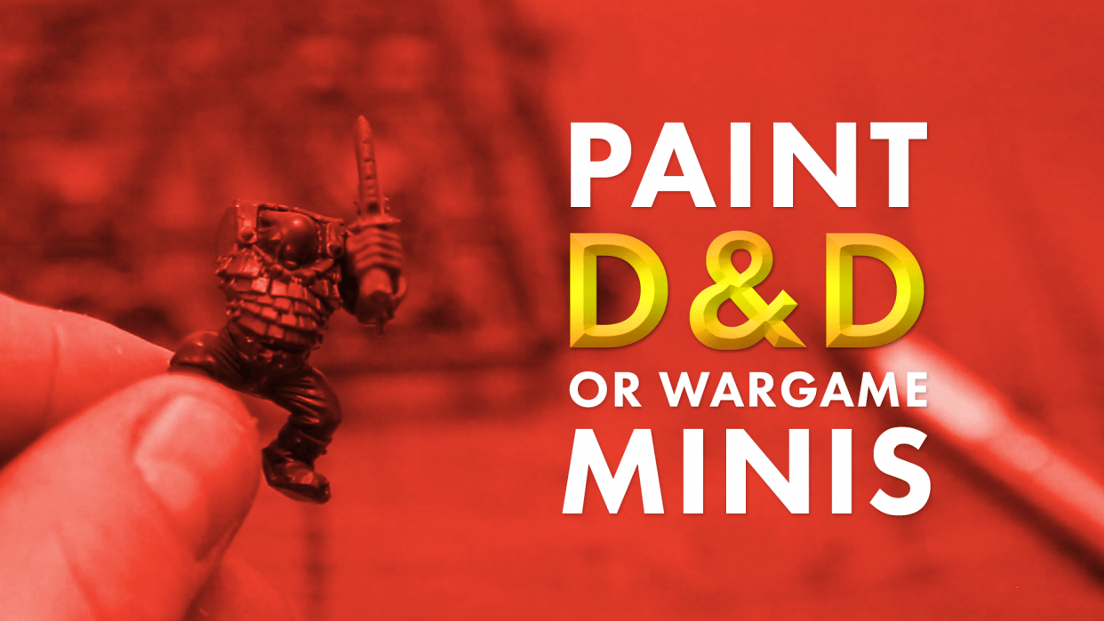 How to paint a D&D or Wargames miniature - student project