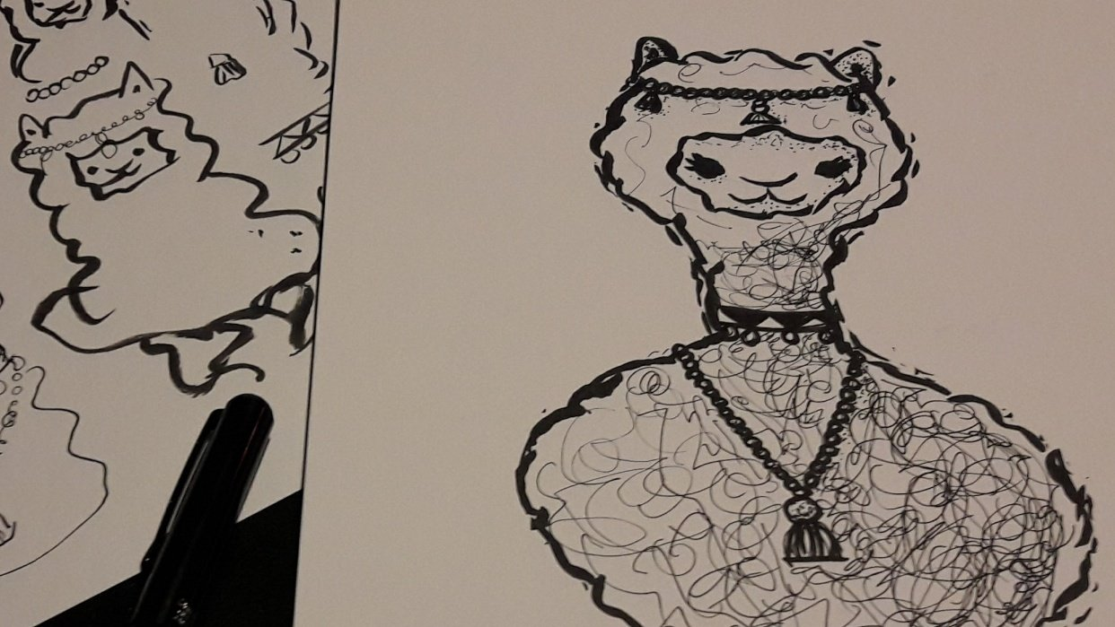 Inking exercises - student project