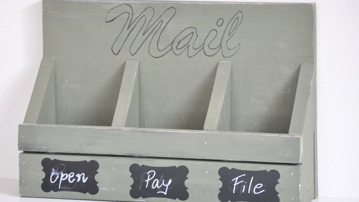 How to make a simple wood mail sorter - student project