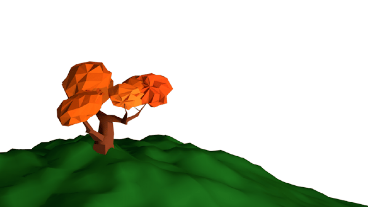 Low-poly tree - student project
