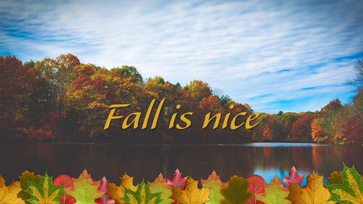 Fall is Nice (Sample Project) - student project