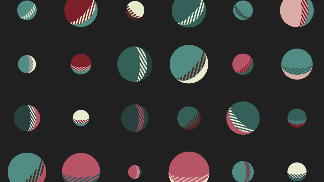 Moons, earth, square, lines - student project