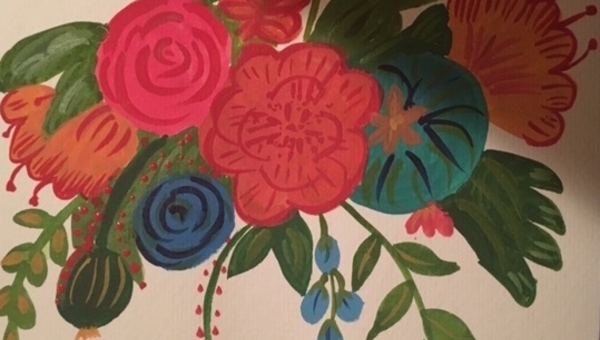 My Vintage Flowers - student project