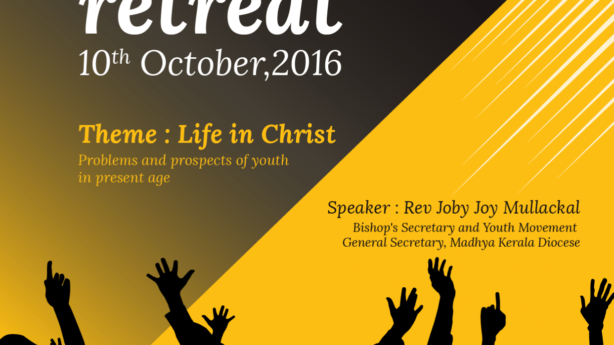 Poster Design for Church Youth Retreat - student project