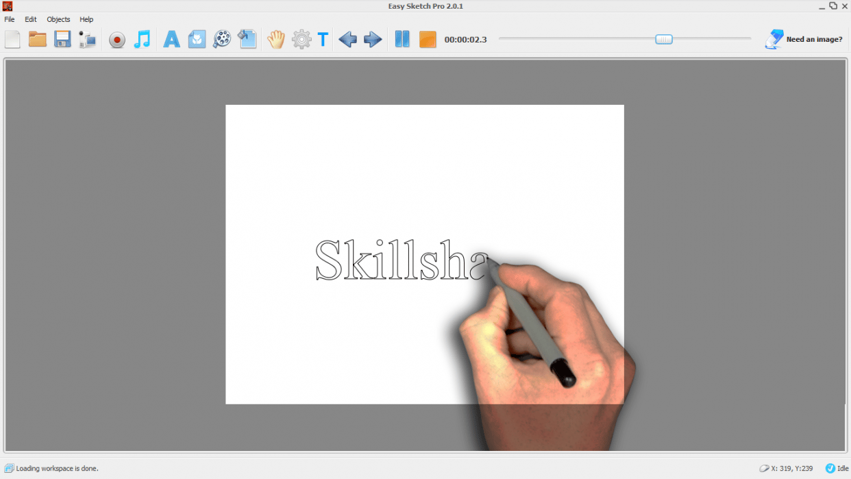 I'll Teach You How To Use The Easy Sketch For Your White Board Animations - student project
