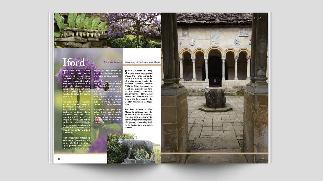 Graphic Design assignment - Magazine Spread - Iford's Peto Garden - student project