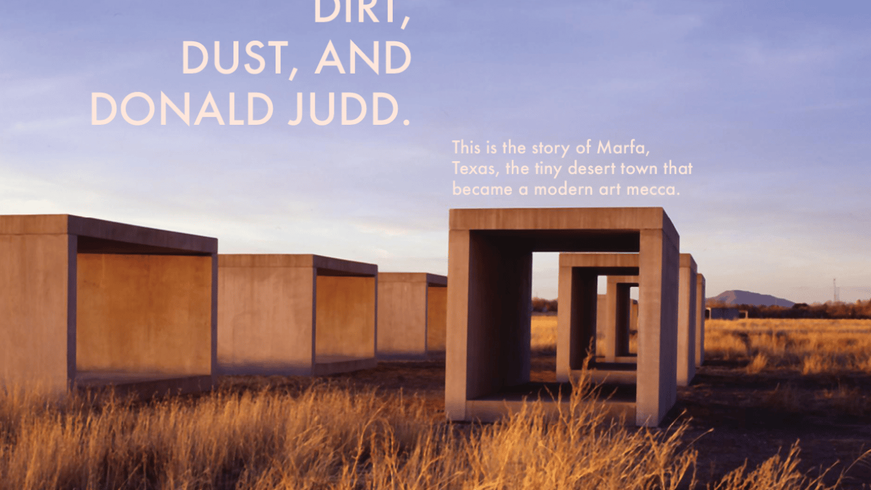 Magazine Layout: Contemporary Art in Marfa, Texas - student project