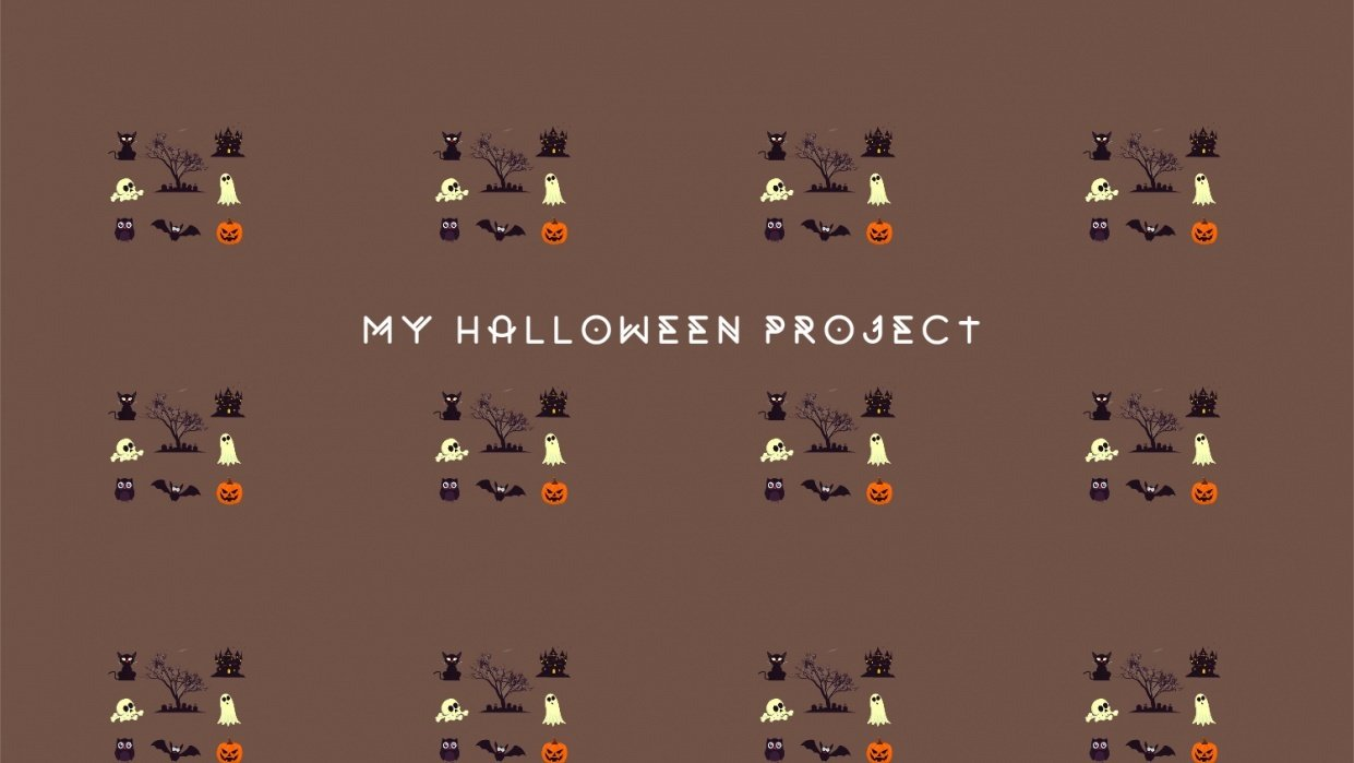 My Halloween project - student project