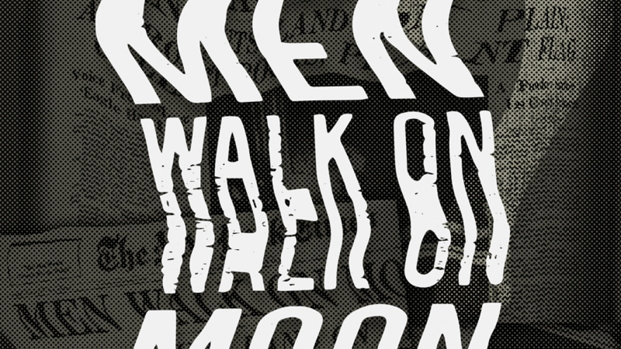 Men Walk On Moon - student project