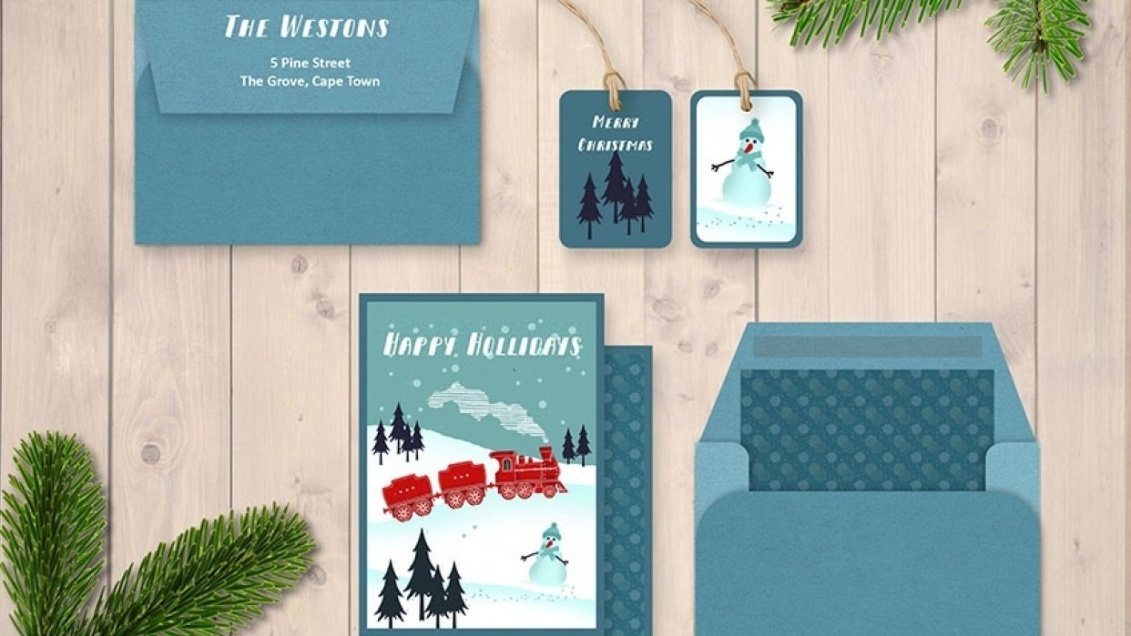 Christmas Spirit Mockup - student project