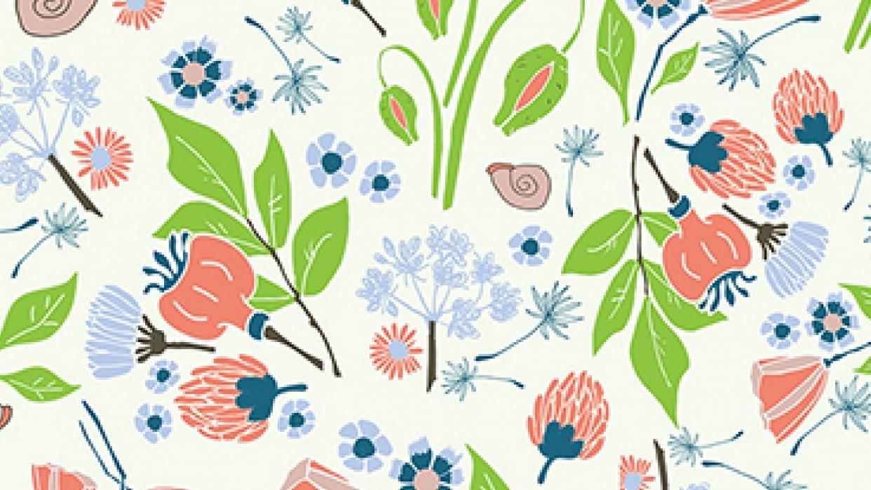 Illustrator: Surface pattern design - student project