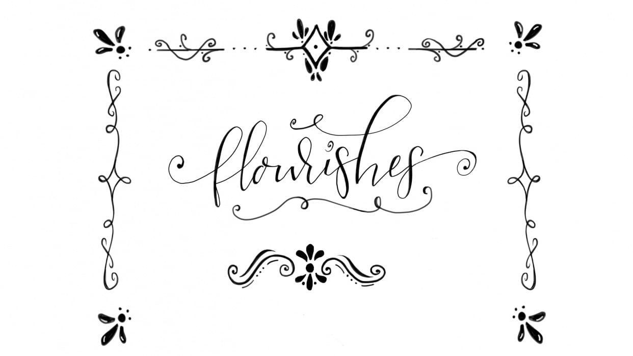 Flourishes on flourishes - student project