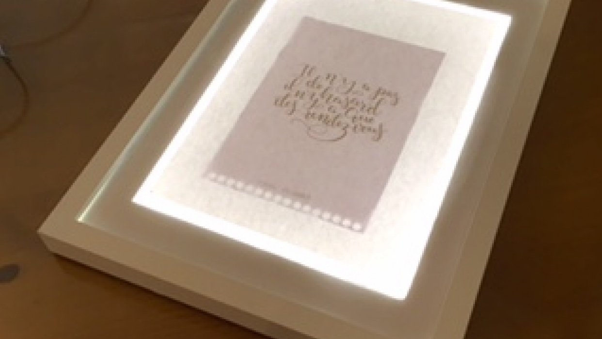 My light table  - student project