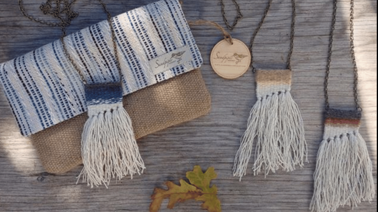 Woven Necklaces (not quite the first attempt) - student project