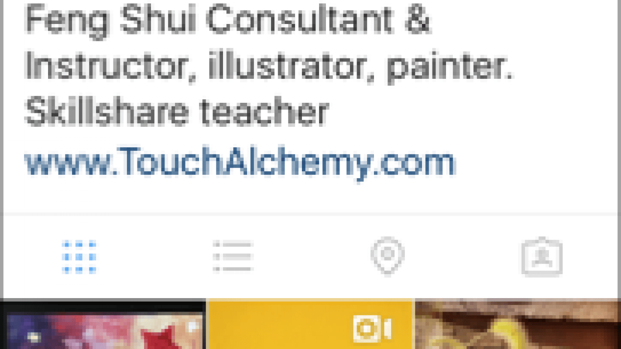 Instagram profile - student project