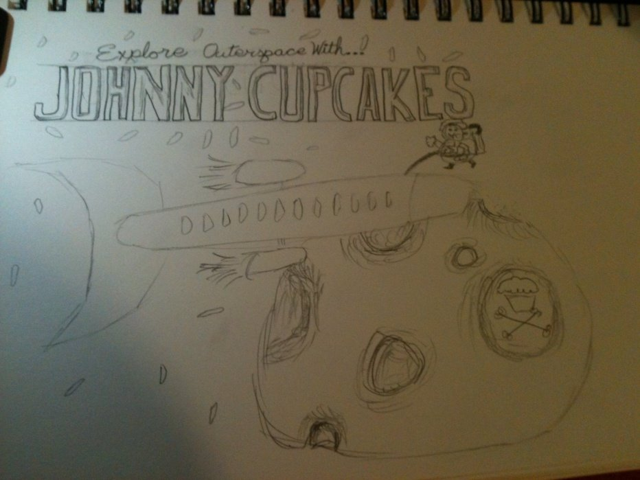 Johnny Cupcakes - Outerspace - student project