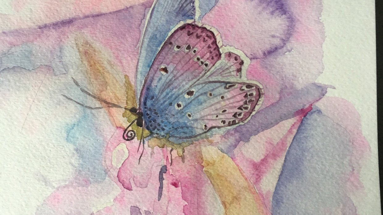 Watercolor & Mixed Media Class - student project