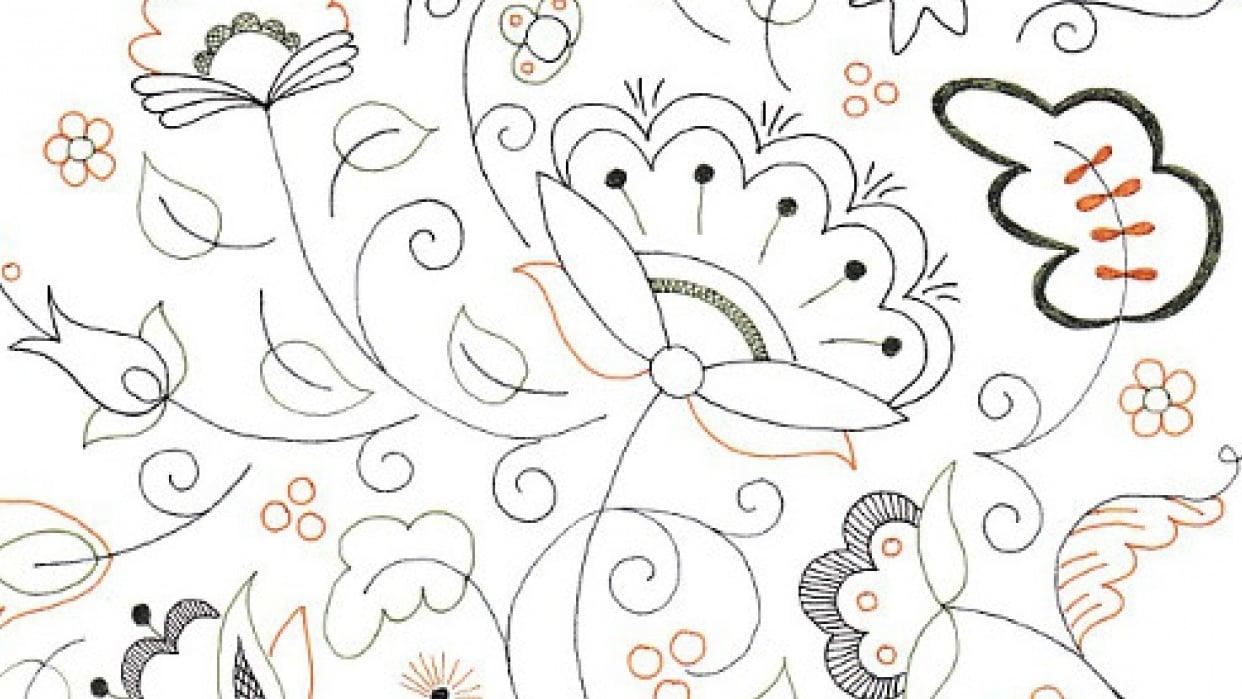 Jacobean Doodle - student project