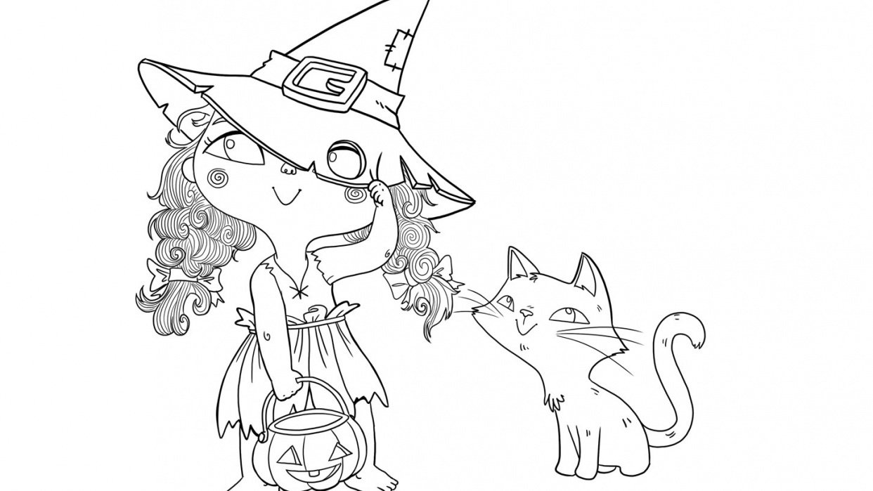 The little witch and her cat - student project
