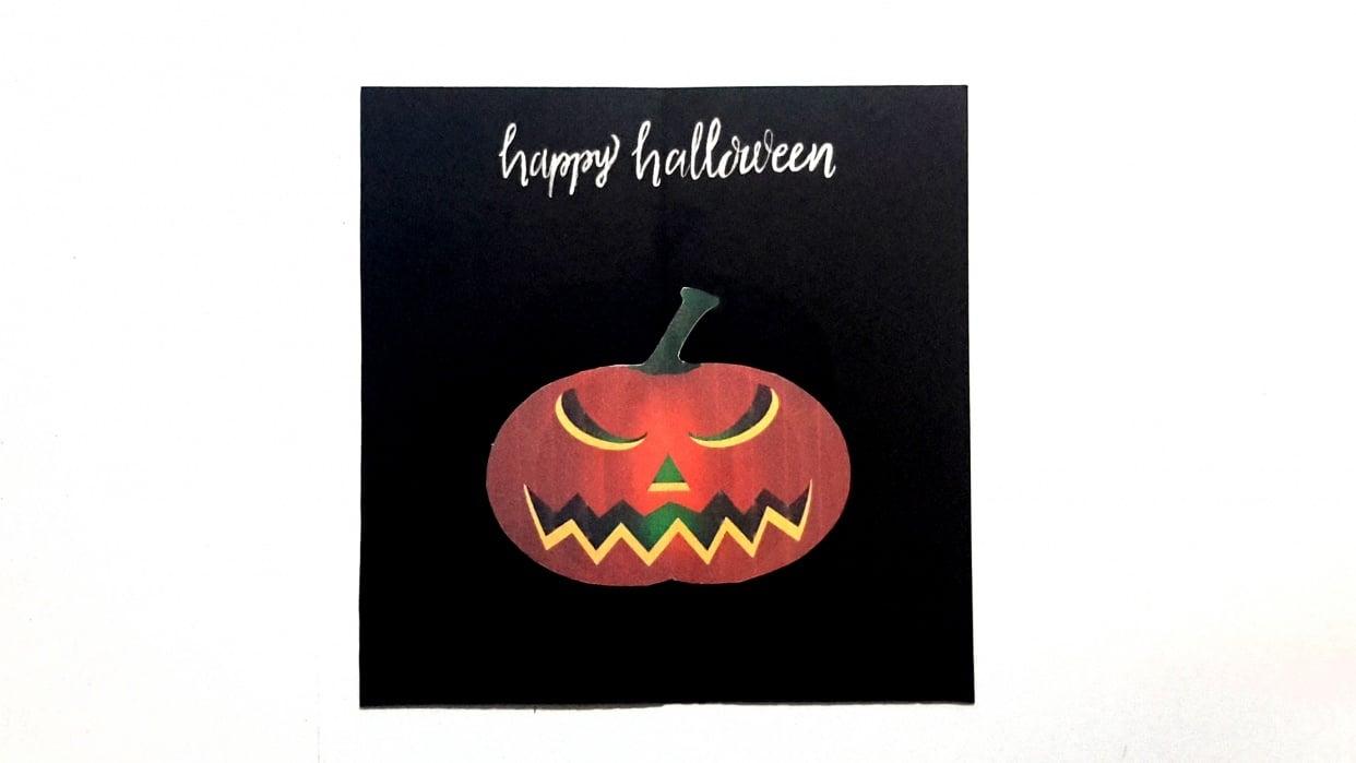 SAMPLE PROJECT: Pumpkin Halloween Card - student project