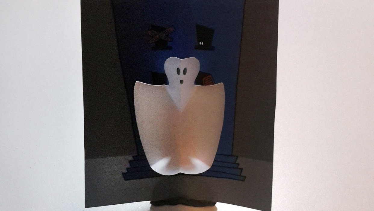 SAMPLE PROJECT: Ghost Halloween Card - student project