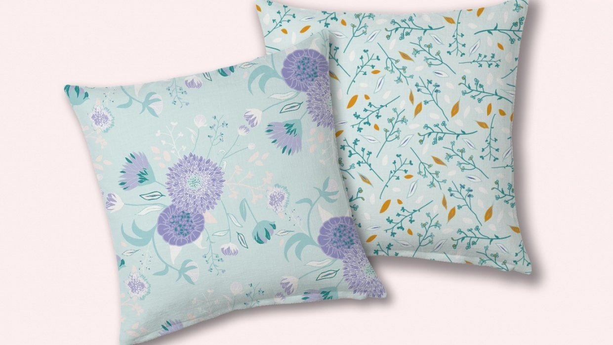 Delicate floral patterns - student project