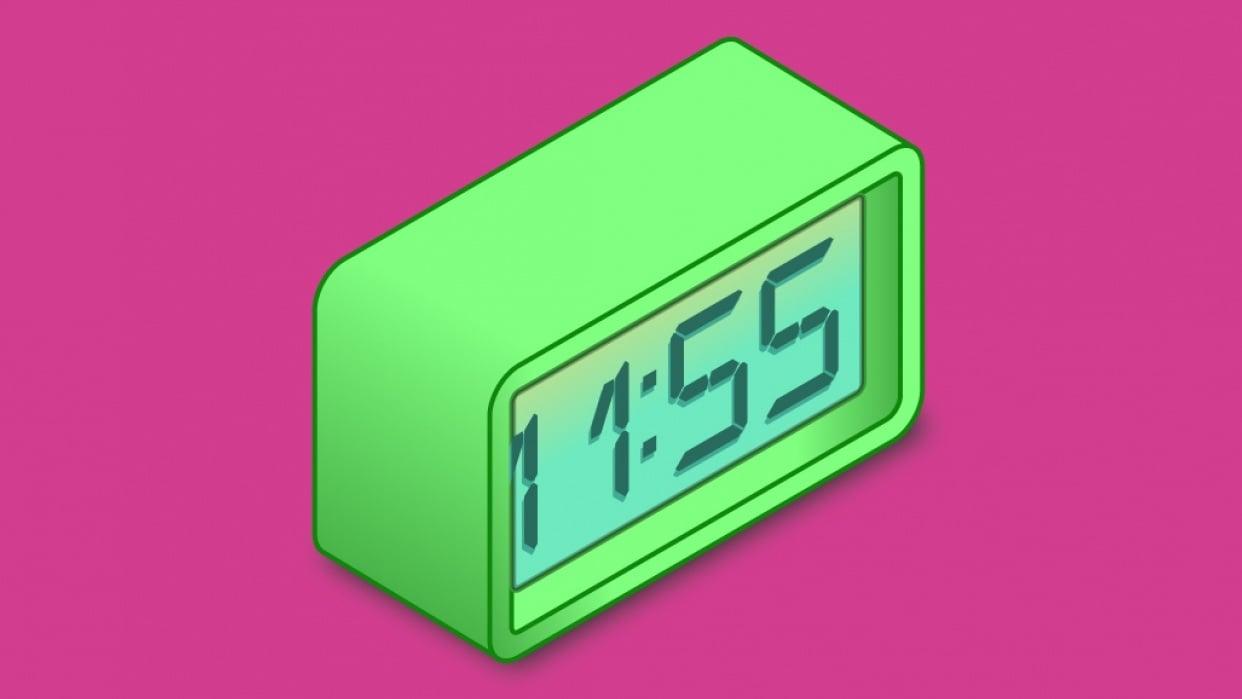 My little digital clock - student project