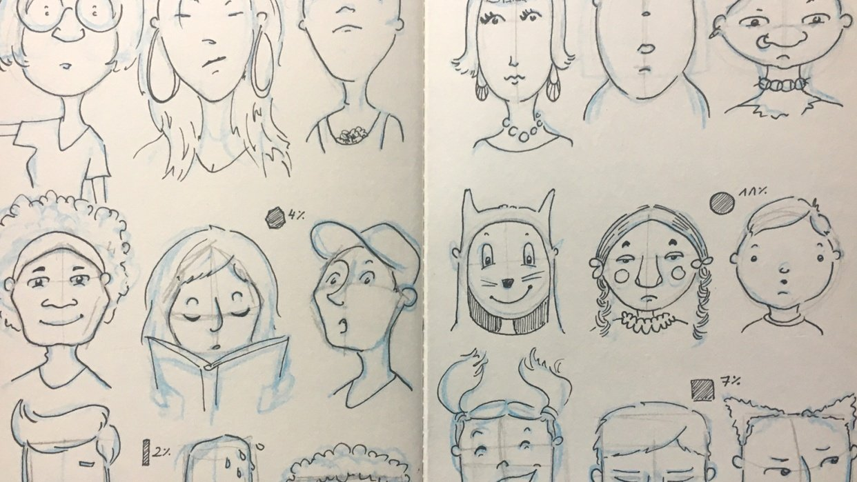 Face Shapes Studies - student project