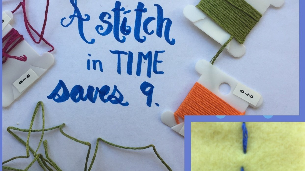 MY RUNNING STITCH- Such An Easy Project - student project
