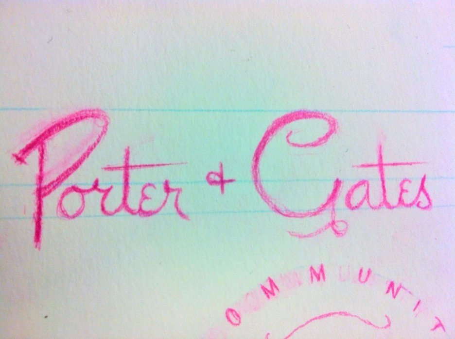 Porter+Gates Logo Sketches - student project