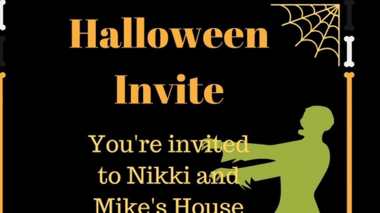 Here's my Halloween Invite (Sample Project) - student project