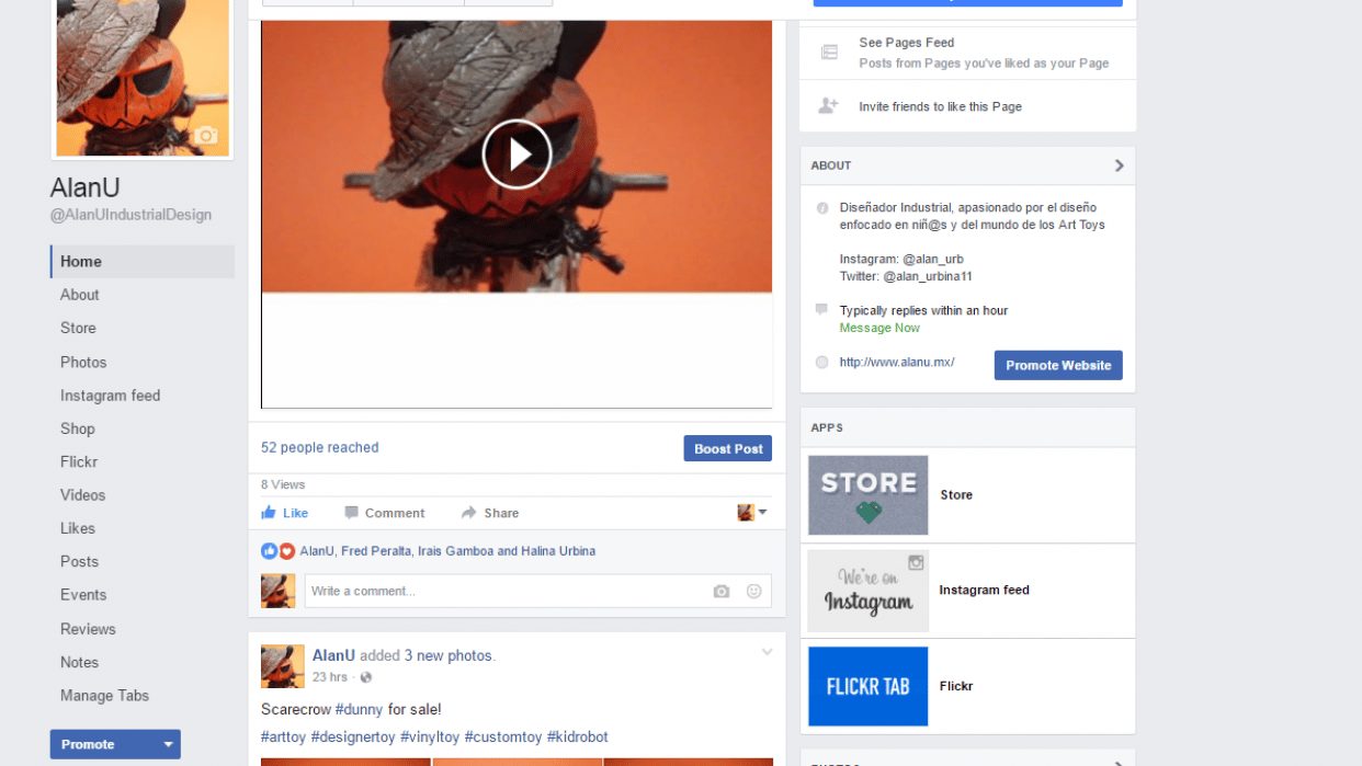 My facebook - student project