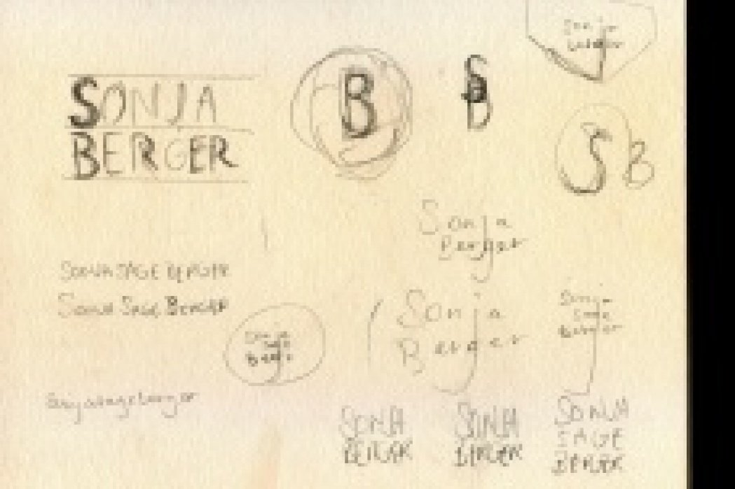 Sonja Berger Self Logo Sketches - student project