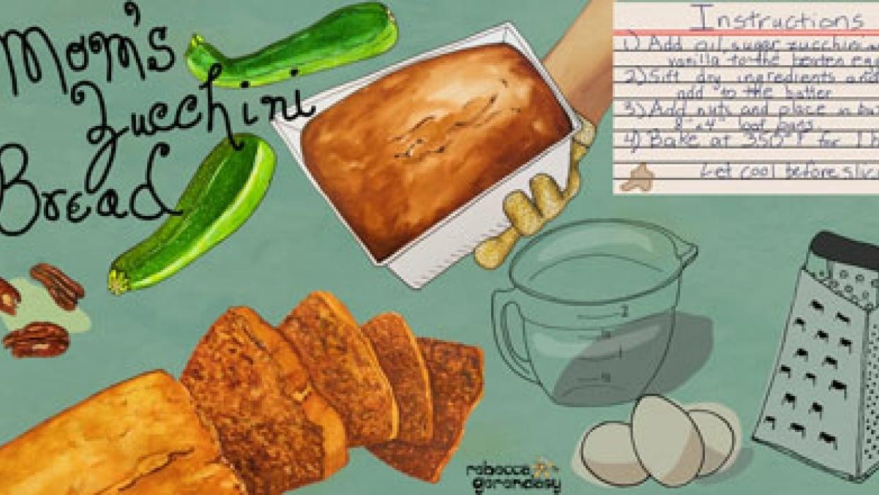 Mom's Zucchini Bread - Tall Pin - student project