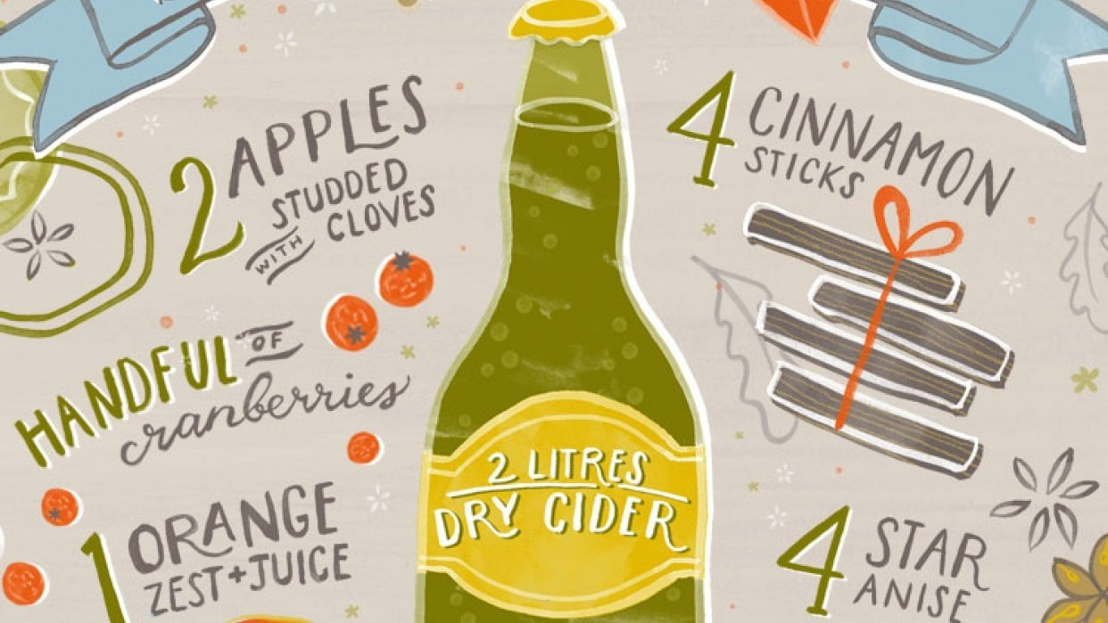 Spiced Mulled Cider Illustrated Recipe - student project