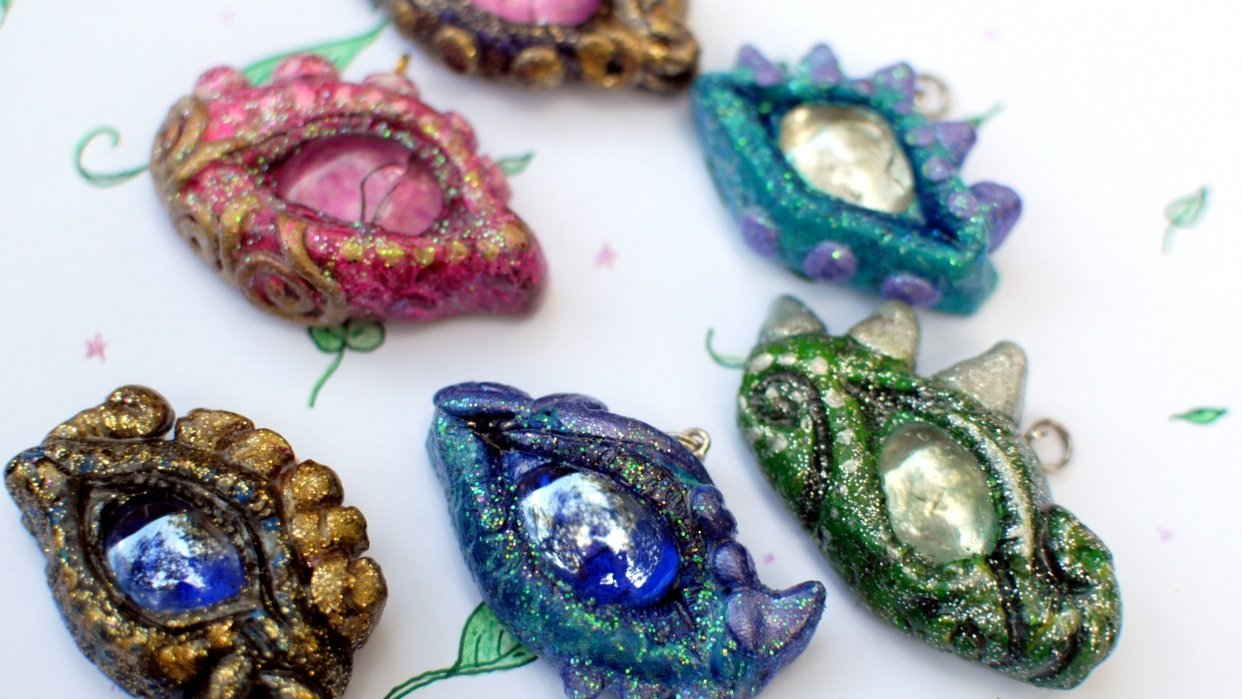 Published! DIY Sculpting: Create a Dragon Eye Pendant  - student project