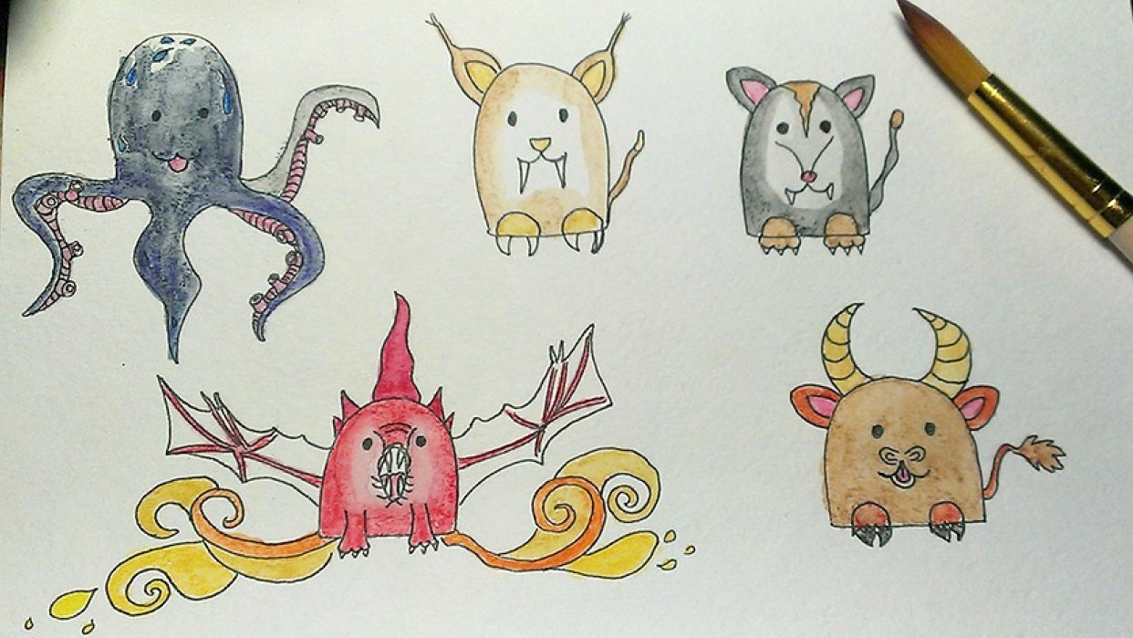 Fairy cute creatures - student project