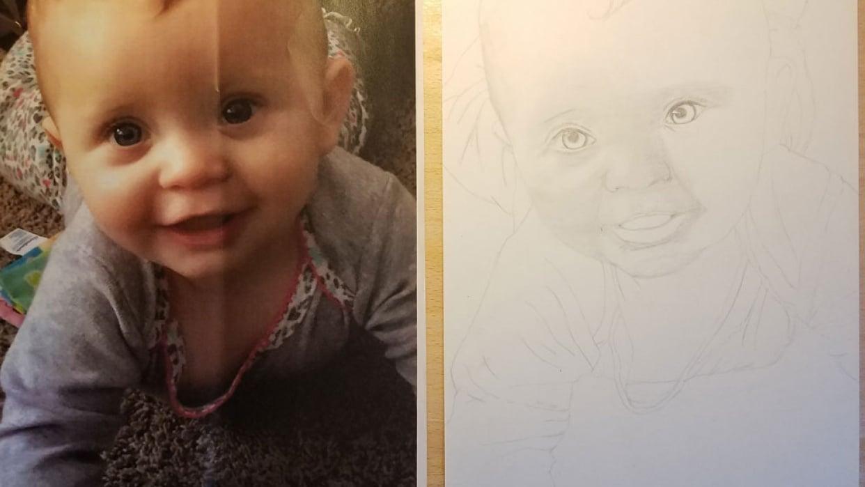 Child Portrait WIP 1 - student project