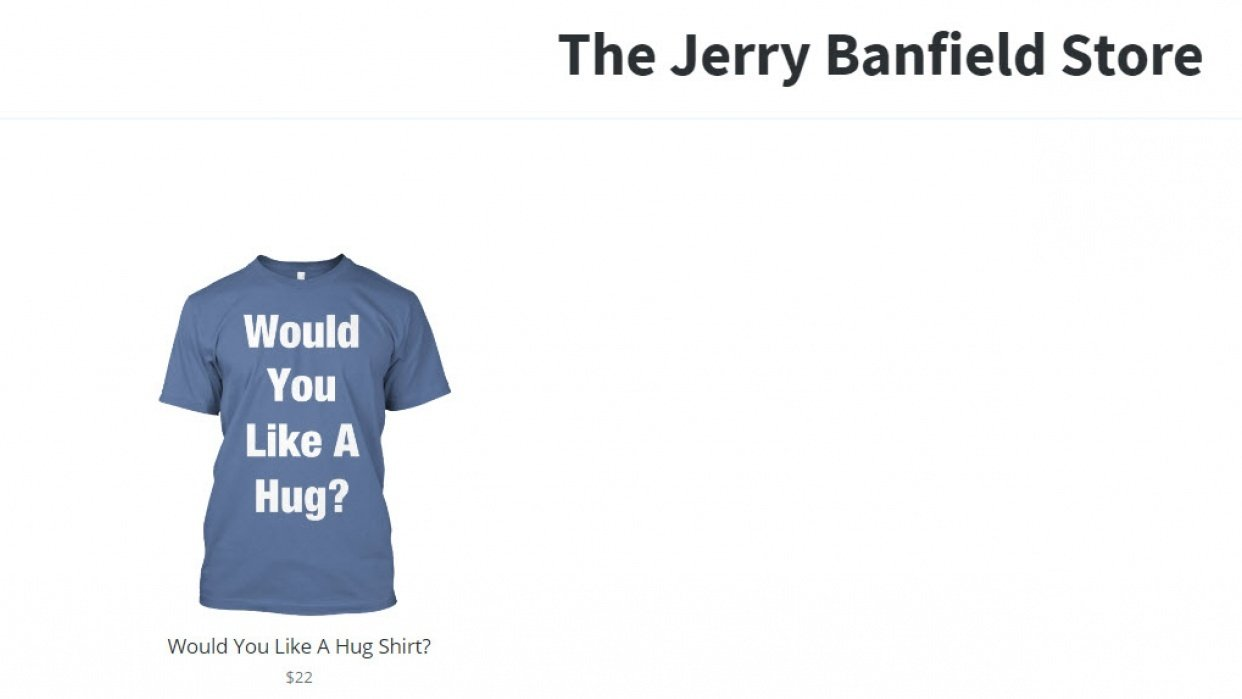 My first Teespring campaign within the storefront! - student project