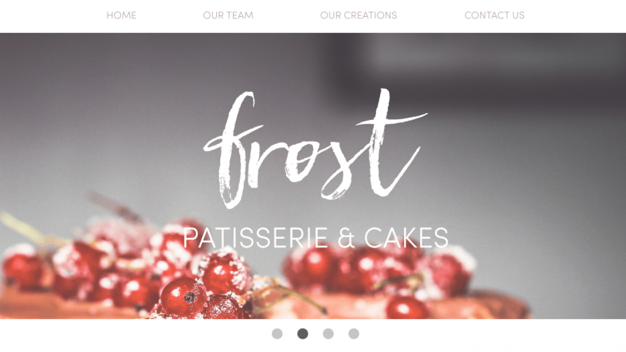 Frost - Patisserie & Cakes Website - student project