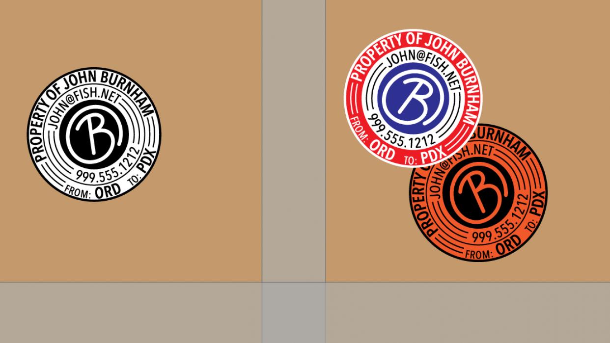 Burnham's Custom Circular Travel Sticker! - student project