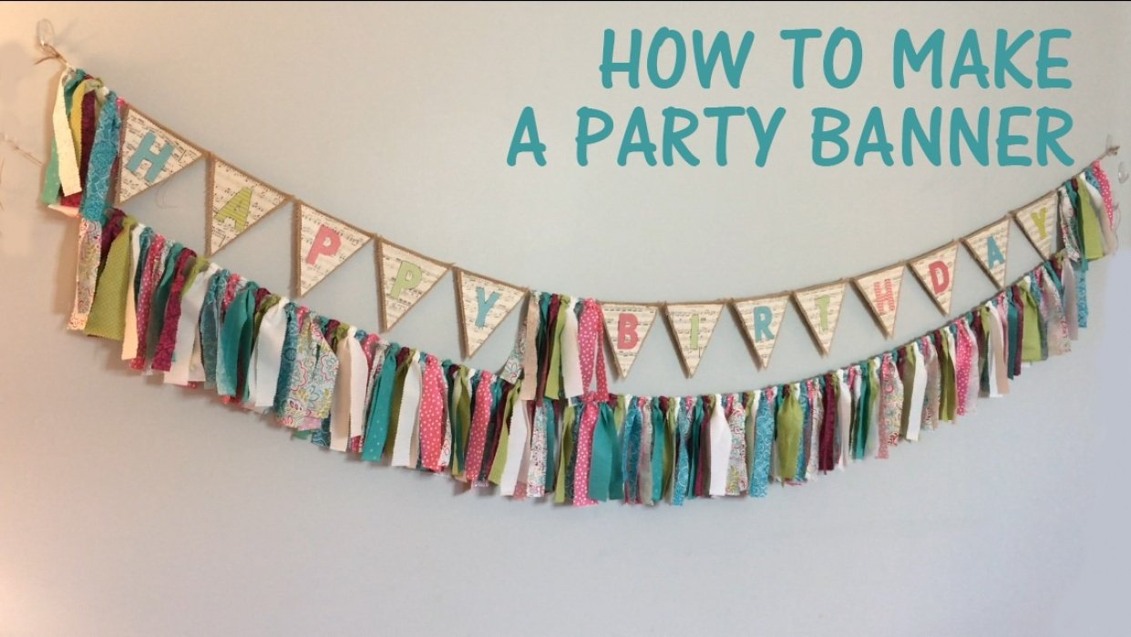How to Make a Party Banner - student project