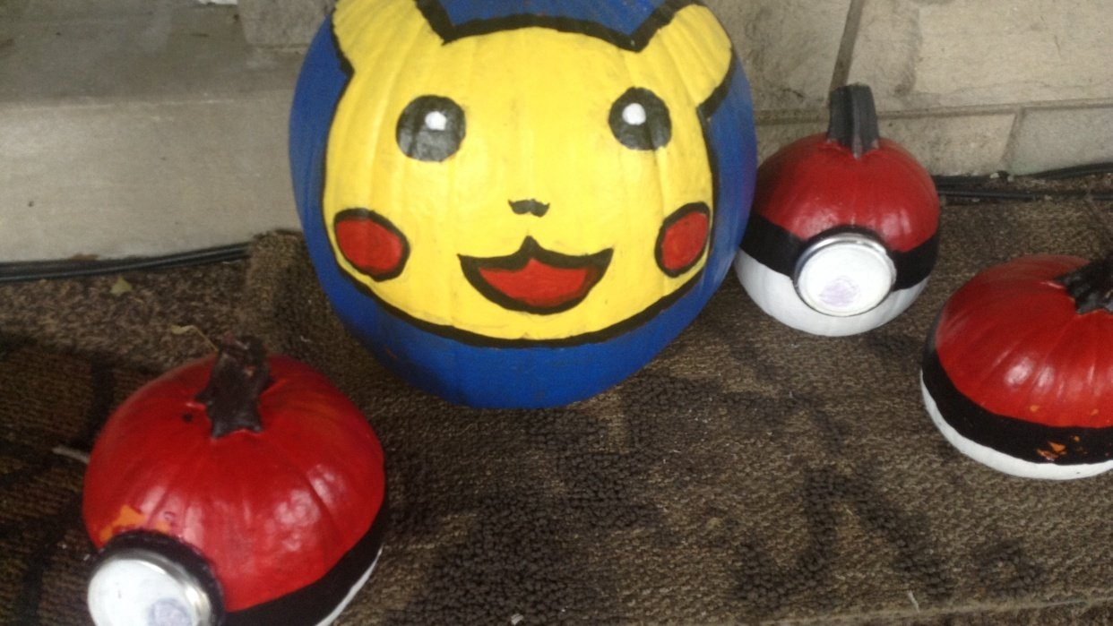 What the heck is a Pokemon? How I learned by making decorative pumpkins  - student project